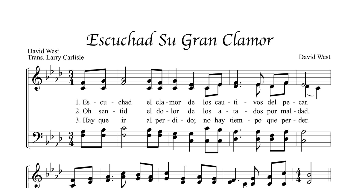 New Spanish Hymn for International Church Ministries Thumbnail